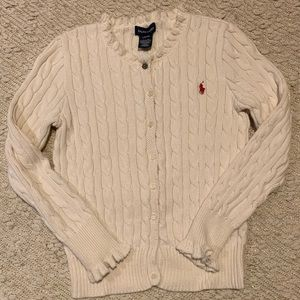 Polo Ralph Lauren girl's cardigan size L (12/14)